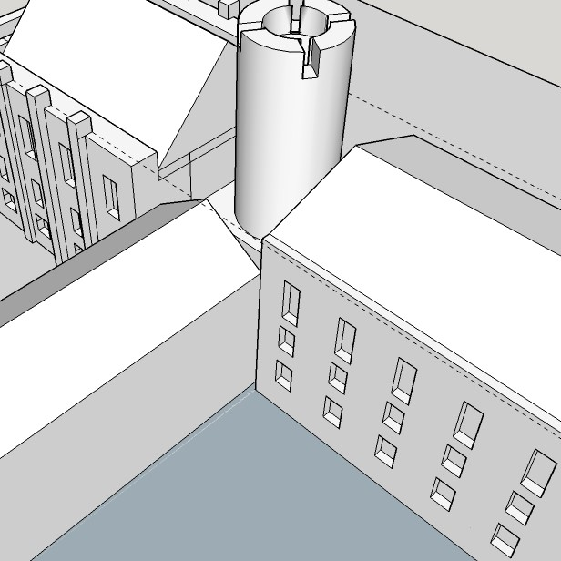 3D sketch up drawing of a building
