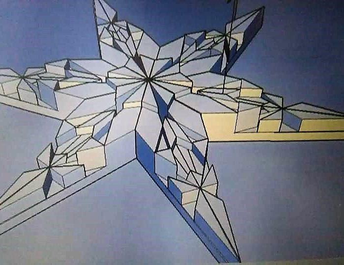 Sketchup image of a Snowflake