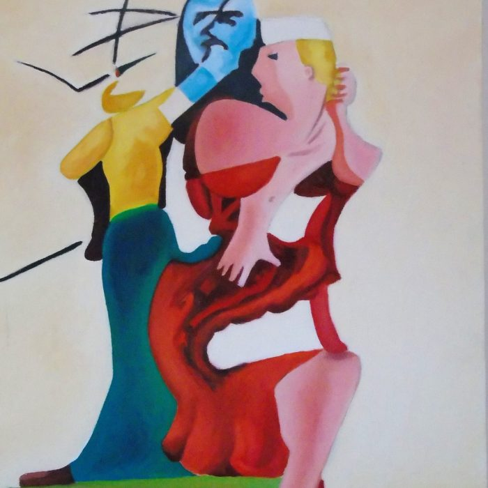 Print of an abstract painting by Irish Artist David O'Rourke.
