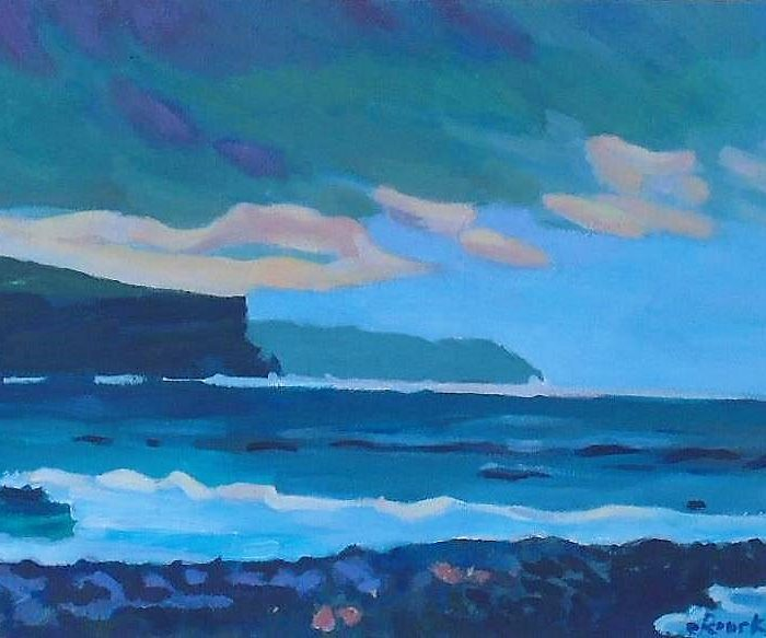 Print of a painting of the Wild Atlantic Way - Seascape 1. By Irish Artist David O'Rourke.