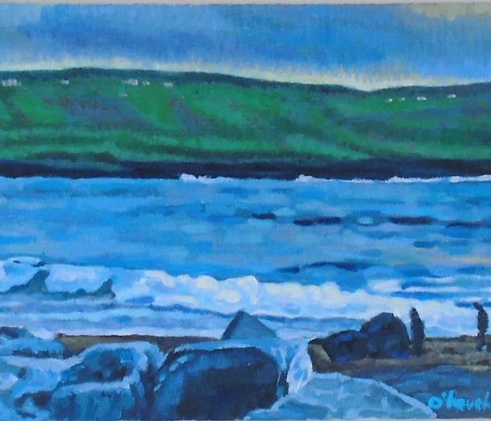 Print of a painting of the Wild Atlantic Way - Seascape 2. By Irish Artist David O'Rourke.